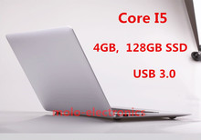 1920*1080 HD Aluminium ultrabook laptop computer Intel Core I5 I7 backlight keyboard 4GB 128GB SSD USB 3.0 HDMI webcam WIFI(China (Mainland))