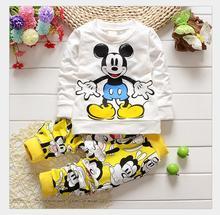 2016 free shipping baby clothes summer Set cartoon cotton baby girl bebe baby girl boy clothes body suit kids clothes(China (Mainland))