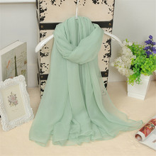 New 20 Colors Fashion women silk scarf Leisure Sping Solid Color Light weight Accessories Shawl Scarf Sunscreen Chiffon scarves