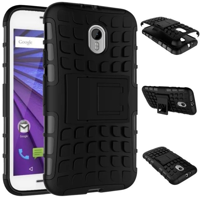 For Motorola Moto G 3 3rd Gen Case 5.0inch Hybrid Kickstand Rugged Rubber Armor Hard PC+TPU StandFunction Cover Cases For MotoG3(China (Mainland))