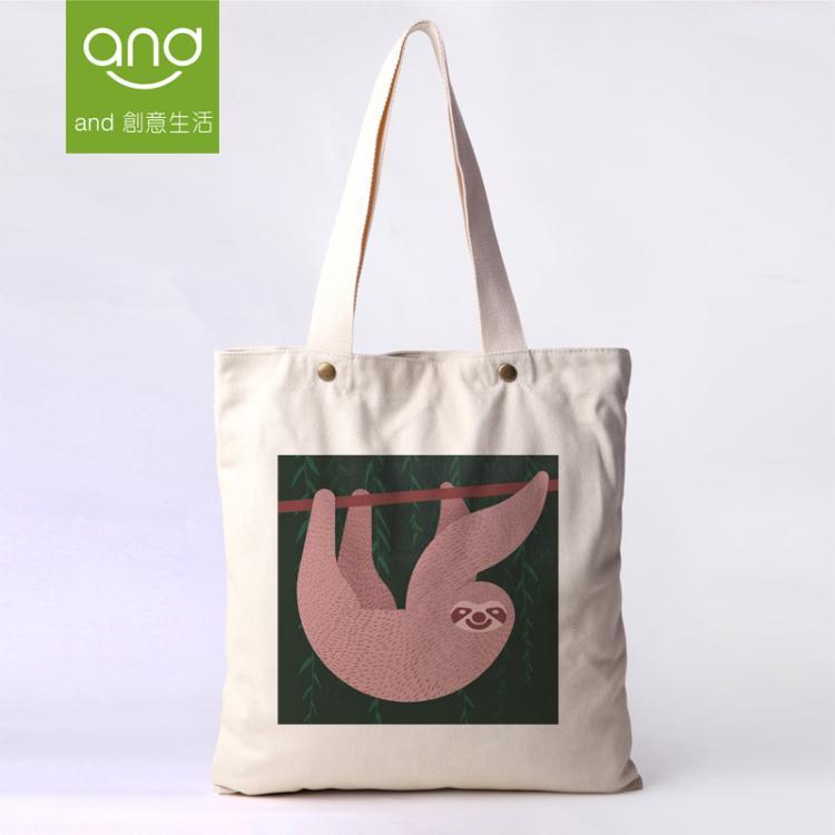 Cotton bag eco-friendly fluid shopping bag canvas bag one shoulder handbag preppy style free shipping shopping bags canvas women(China (Mainland))