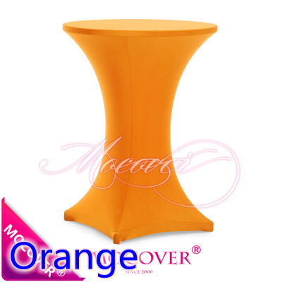 Orange colour Spandex table cover cocktail table cloth lycra high bar table cover wedding party and hotel table decoration(China (Mainland))