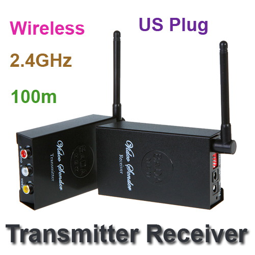 us plug 2.4GHz 4 Channels A/V Audio Video Sender Wireless Transmitter Receiver Free Shipping wholesale(China (Mainland))