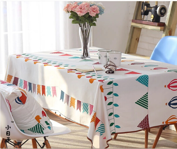 Mediterranean amorous feelings COTTON&LINEN Banquet wedding dining table tea Table cloth(China (Mainland))