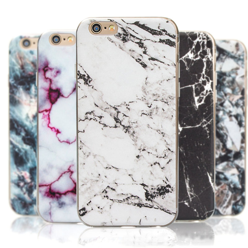 2016 New Arrival For iphone 5S 6 6s 6 plus Marble Pattern Printing Case stone Texture Soft TPU Fashion Cover Capa For iphone 6S(China (Mainland))