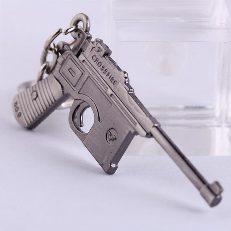 6cm Gun CF Pistol Keychains Hot Game Cross Fire Weapons Alloy Keyring Counter Strike Llaveros porte clef - EmilyFang Fashion Jewelry Factory store