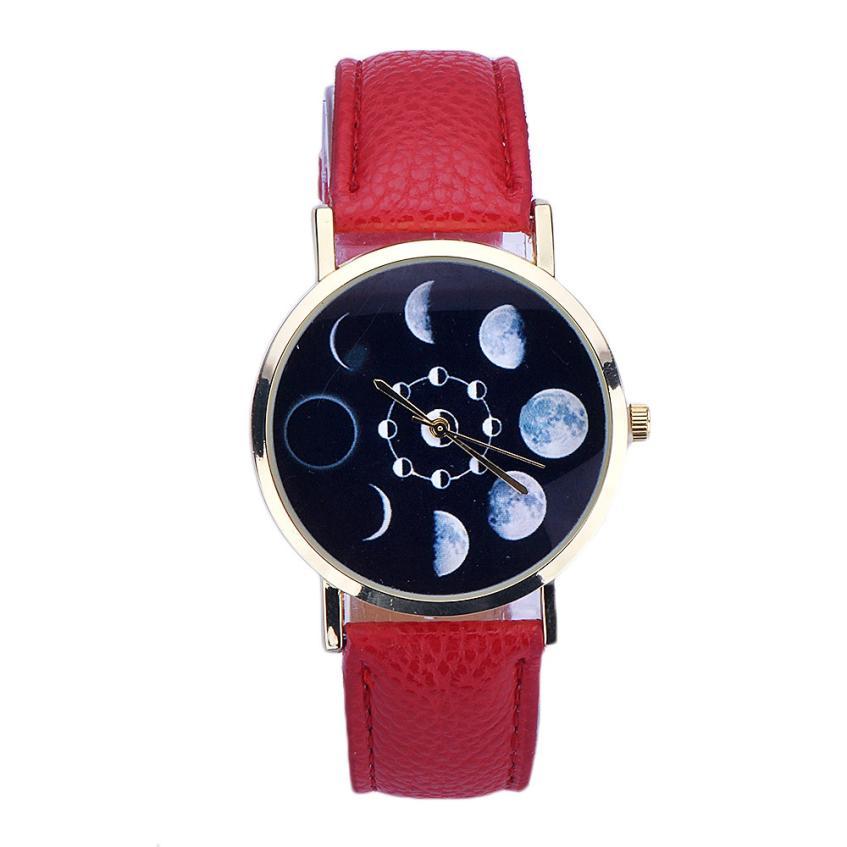 2015 2 Style Women Lady Leather Round FashionAnalog Quartz Wrist New Without Tags Watch<br><br>Aliexpress