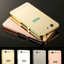 """Buy Sony Xperia Z3 Compact Case 4.6"""" NEW Luxury Plating Aluminum Frame + Mirror Acrylic Back Cover Sony Z3 Mini Phone Cases for $2.79 in AliExpress store"""