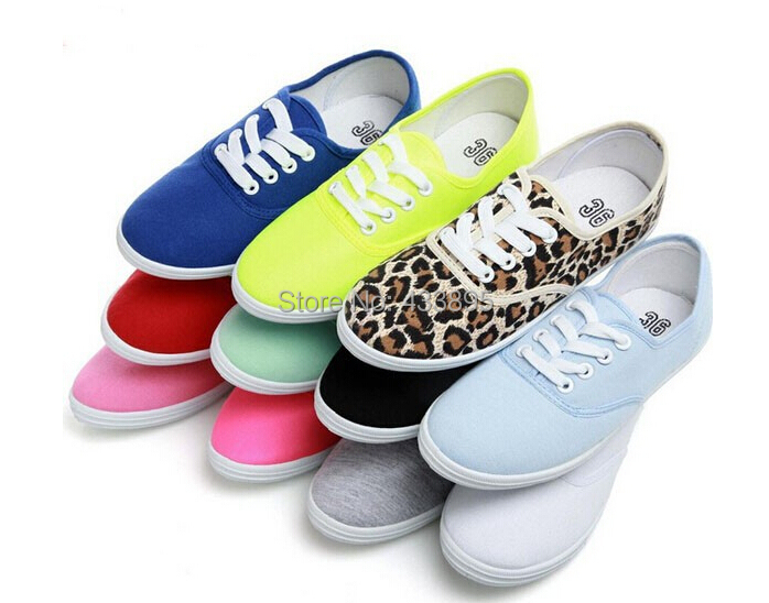 Plus Size Eur 35-42 Spring Women Sneakers Low Canvas Shoes Casual Sport Shoes Girls Student Canvas Shoes Free Shipping(China (Mainland))