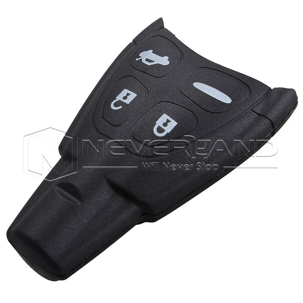 4 Buttons without key blade Car Alarm Housing Cover Remote Smart key Case Shell for SAAB 93 95 Free Shipping D05(China (Mainland))