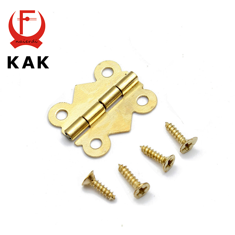 10pcs KAK 40mm x 33mm Bronze Gold Silver Mini Butterfly Door Hinges Cabinet Drawer Jewellery Box Hinge For Furniture Hardware(China (Mainland))