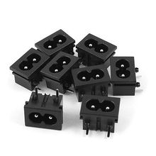 Buy 8 Pcs Black IEC320 C8 Power Plug Adapter Connector Receptacle AC 250V 2.5A/5A for $7.46 in AliExpress store