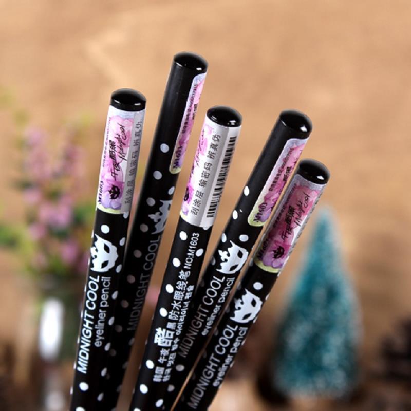 Waterproof Black Essential Eyeliner Dot Pen Pencil Wooden Handle 2 In 1 Girl Makeup Beauty Artlalic