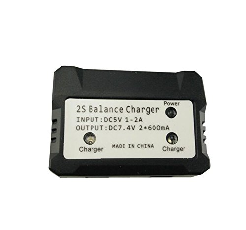 RC Battery Charger USB 2 In 1 for 7.4V (2S) Li Battery Balance Charger for Syma X8C X8HW X8G X600 X101 X6 V262 Quadcopter Drone