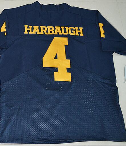 Nike 2016 Michigan Wolverines Jim Harbaugh 4 College Football Elite Jersey - Navy Blue Size S,40/M,44/L,48/XL,52/XX(China (Mainland))
