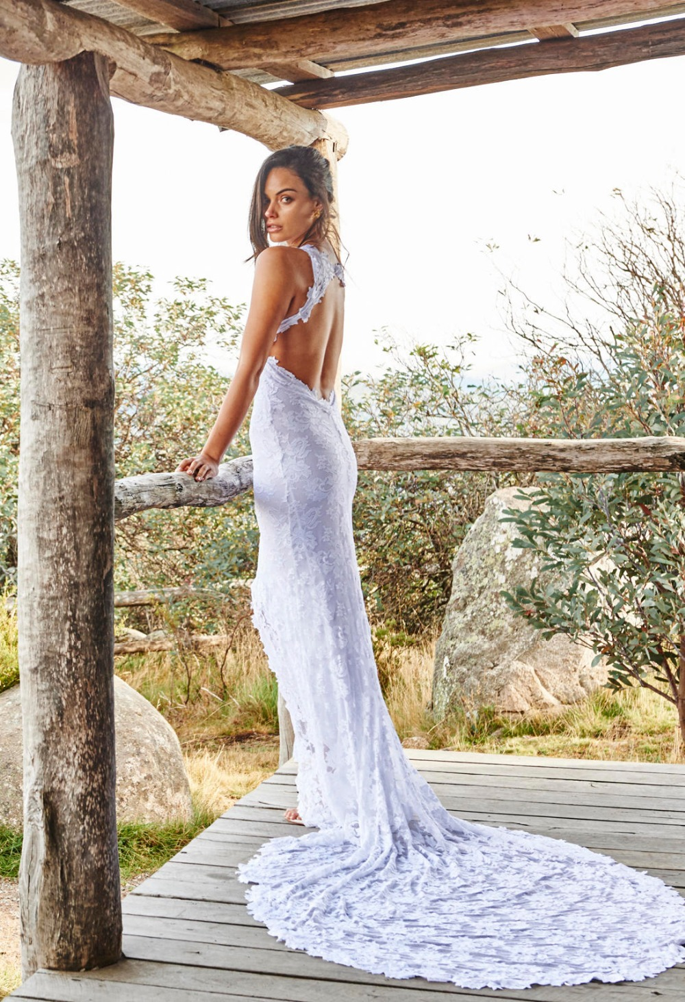 Fishtail Wedding Dress With Train : Wedding dresses with lace back cut out galleryhip the hippest