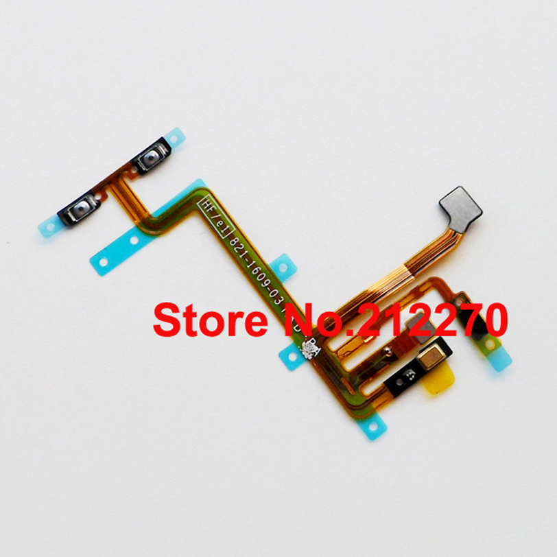50pcs Original New Power On/Off Volume Button Flex Cable Ribbon For iPod Touch 5 5th Gen Parts Wholesale(China (Mainland))