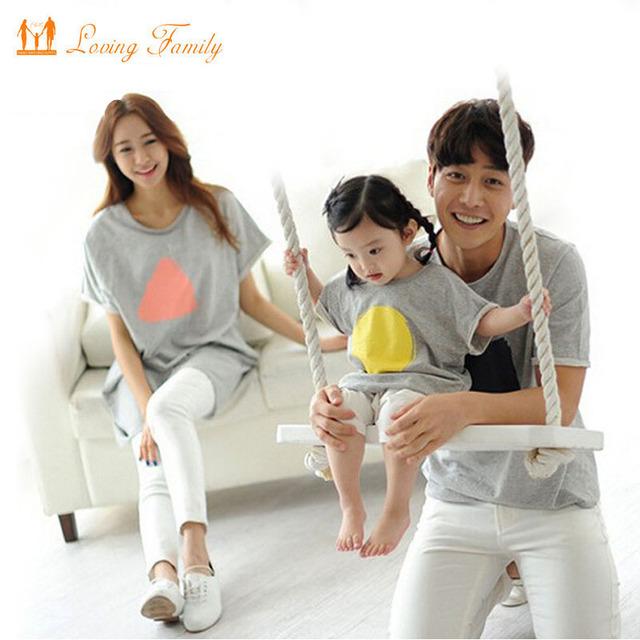 Семья соответствующие одежда летом с коротким рукавом футболка соответствующие семьи ...