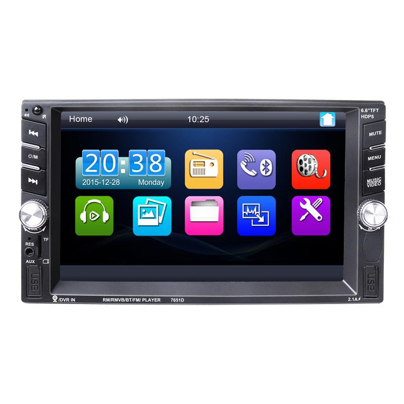 2Din Bluetooth Car Multimedia MP5 Player 6.6 Inch Universal Car Autoradio 2Din for Volkswagen VW Opel Golf Audi BMW 7018B #94629(China (Mainland))