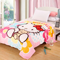 Hello Kitty Blanket for Adult Kids Plush Fleece Bed Blankets Cartoon Blanket Throw on The Bed