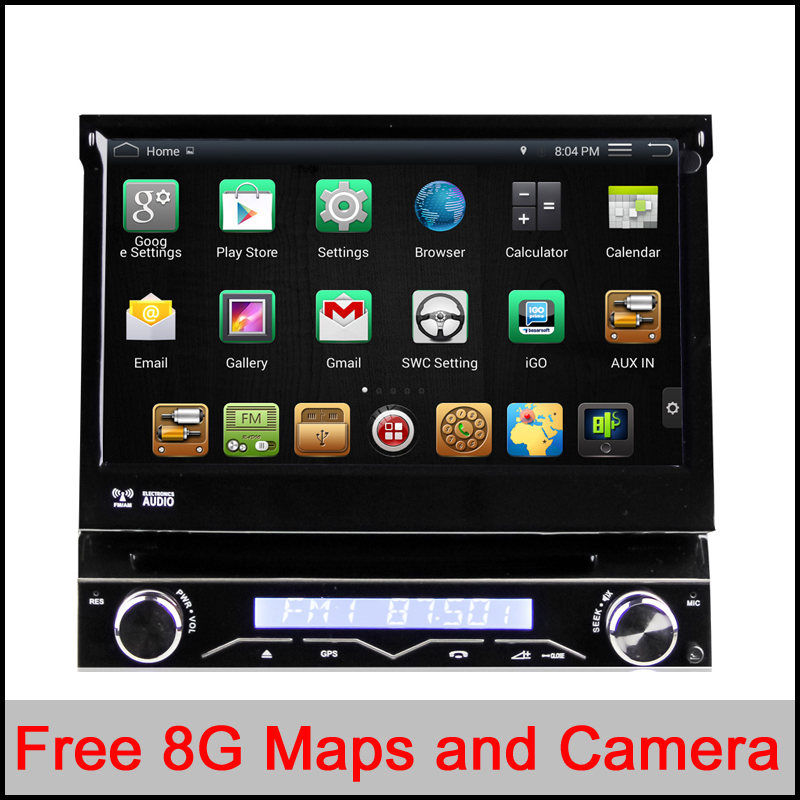 RK3188 Quad-Core CPU Pure Android 4.4.4 1 din Universal car dvd player Android 4.4 car audio stereo HD Capacitive GPS car radio(China (Mainland))