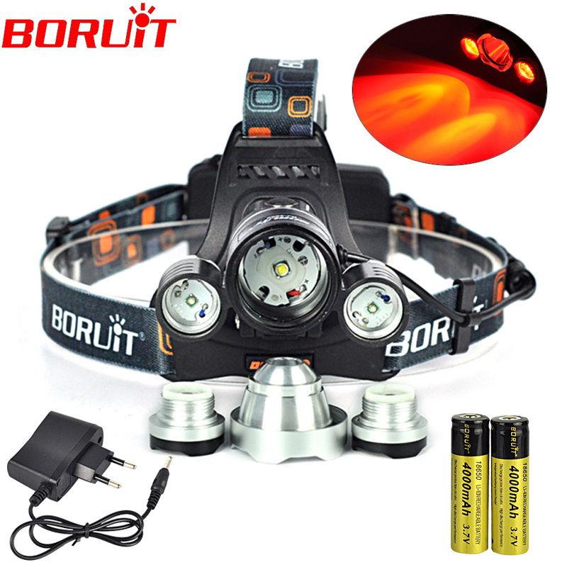 Boruit Waterproof Headlamp XML T6+XPE Red 5000 Lumens 4 Mode LED Headlight Rechargeable Hunting Spotlight Lamp Head Light 18650<br><br>Aliexpress