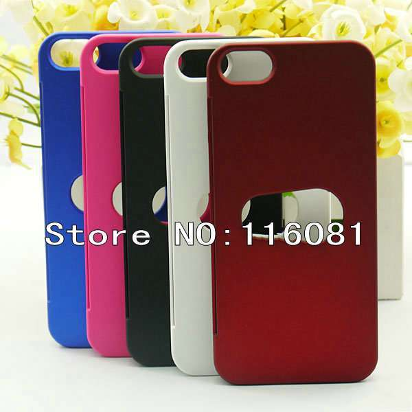 DHL Free shipping 50x Credit Card Slot Holder Wallet Hard Back cover case Shell for Apple iPhone 5 5th 5G