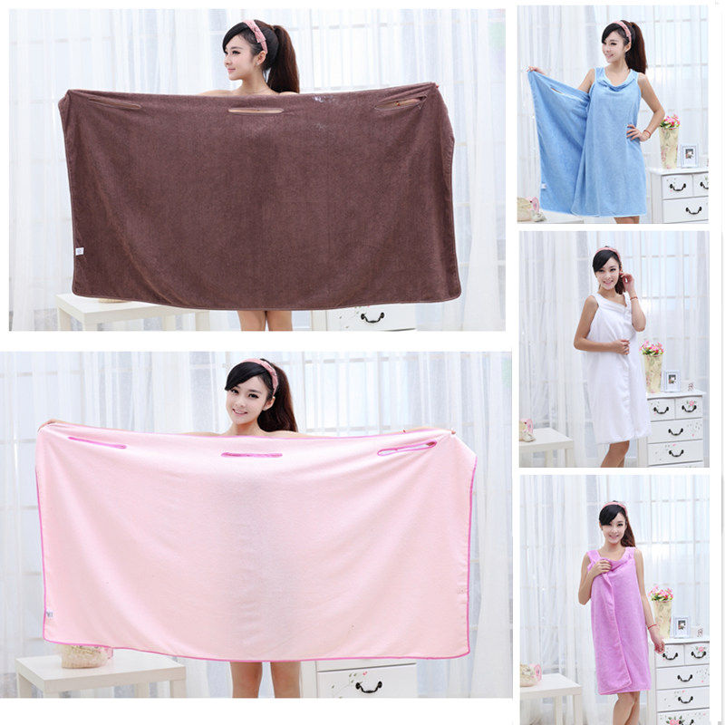 Unisex Super Soft Microfiber Robes Wearable Towel Robe Sexy Spa Fast Dry Washclothing Wrap Towel Bathrobes for Women Pink(China (Mainland))