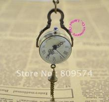 Low price good quality fashion quartz nice vintage new bronze glass ball pocket watch holesale buyernecklace