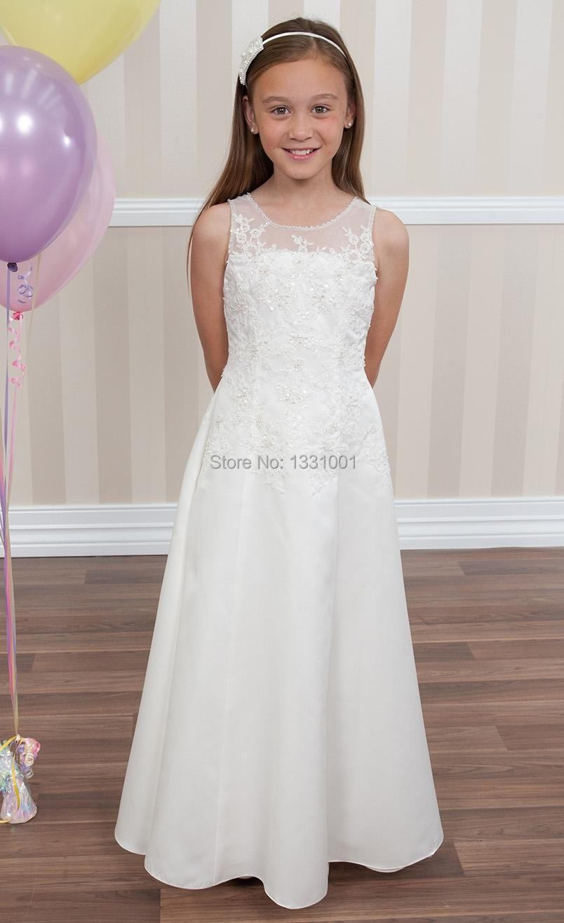 Long beach flower girl dresses for wedding 2015 new girls for Beach wedding flower girl dresses