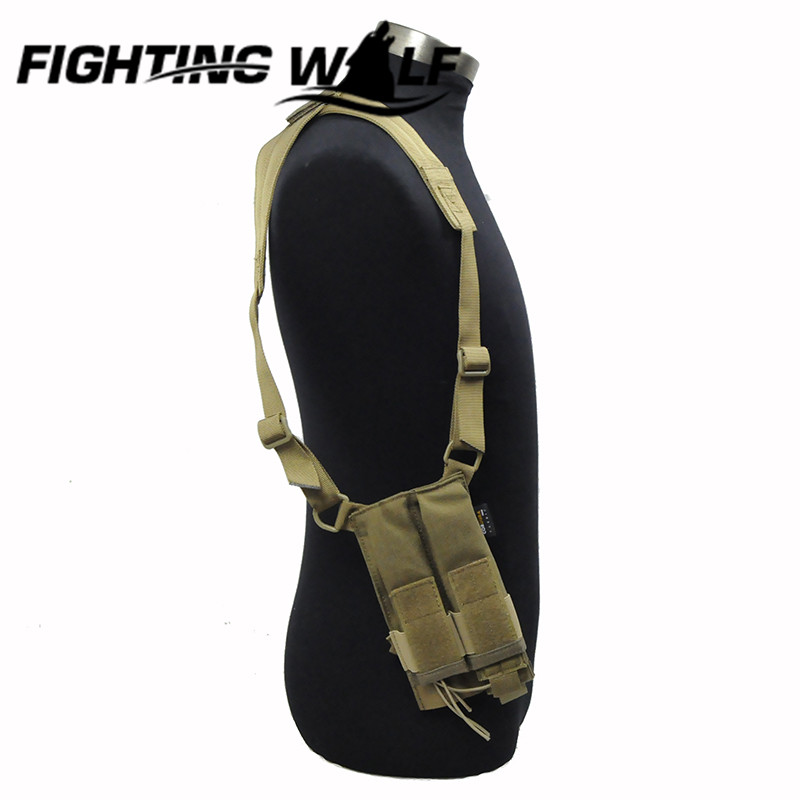 Tactical Military Airsoft Men Security Armpit Holster Strap Lanyard Adjustable Hunting Shoulder Magazine Pouch for Shooting<br><br>Aliexpress