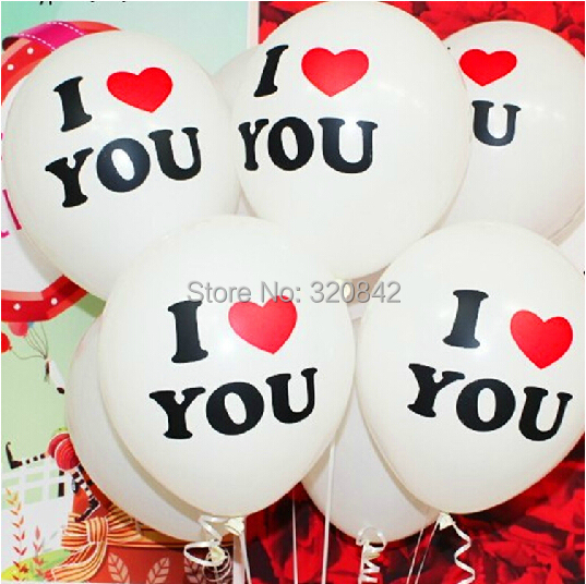 20pcs 12inch I love you Romantic White heart Balloons Party Wedding Birthday Christmas Event Decoration Balloon wedding gifts(China (Mainland))