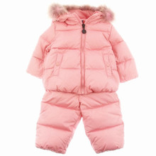 2016 Winter Children's Clothing Set Kids Ski Suit Overalls baby girls Down jacket Warm Jackets Jumpsuits + Bib Pants 2 pcs.