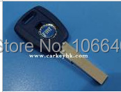 ( Blue color ) The best prie for Fiat transponder key shell  key chip cover case blank with logo