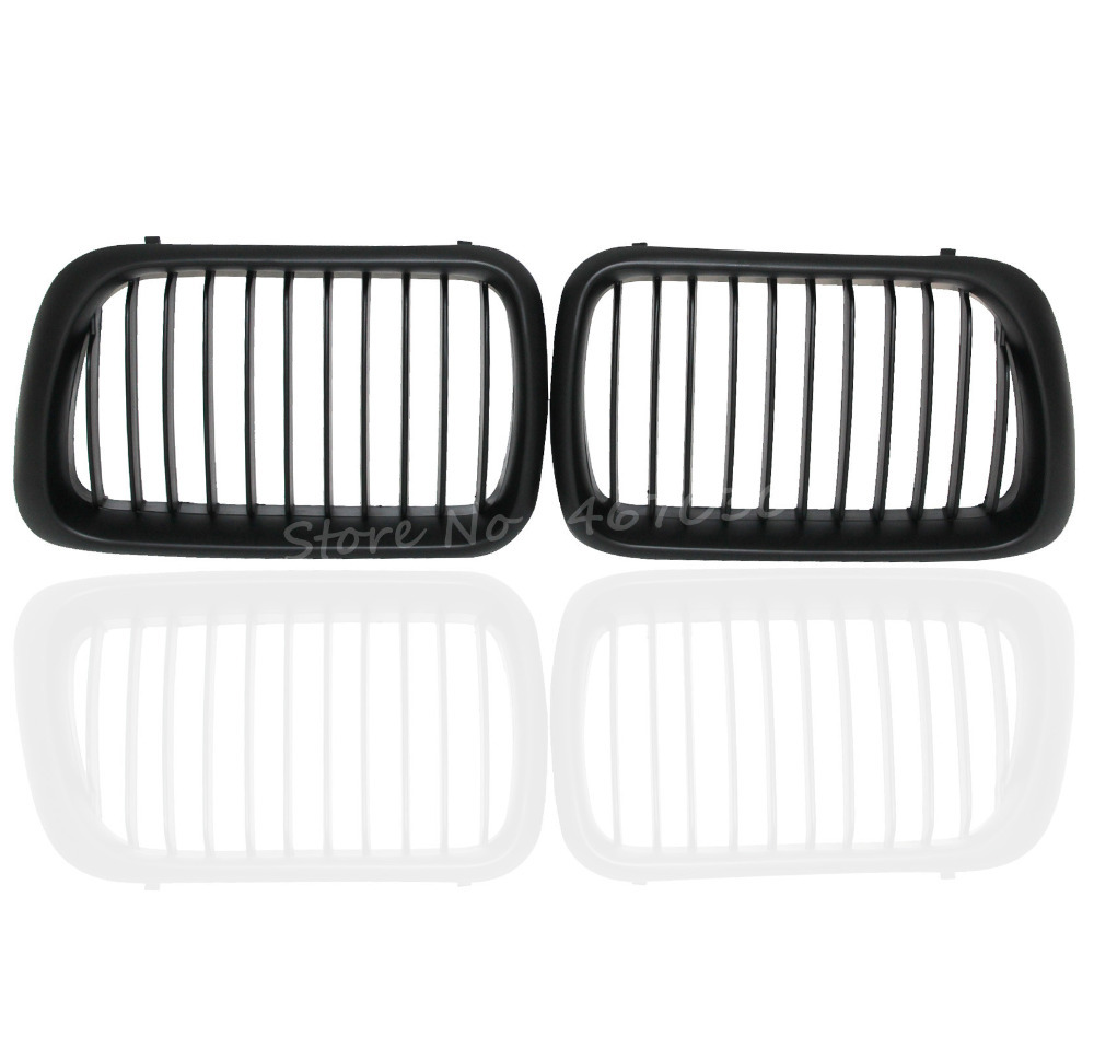 New 2 PCS Black Front Sport Kidney Insert Grilles Grill For BMW E36 3 Series M3 1997-1999 Left And Right Side Free Shipping<br><br>Aliexpress