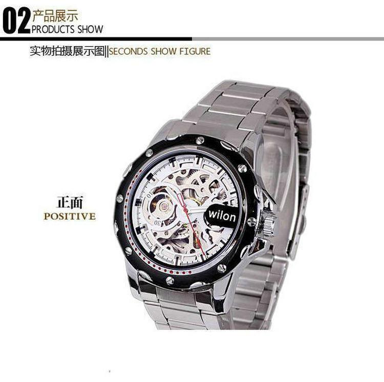 Wilon veyron подлинные Автоматические механические часы с полым из visual досуг мужские часы бизнес большой циферблат мужские часы