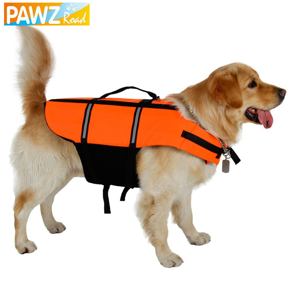 Free Shipping Reflective Vest Dog Vest for Safety Pet Clothes Yellow Life Jacket for Summer Clothing Puppy Dog Car Pet Supplies(China (Mainland))