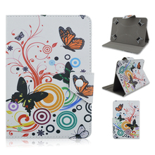 Butterfly pattern Leather Case Stand Cover For Universal Android Tablet PC PAD tablet for 7 8 10.1 inch cases Accessories Y4A92D