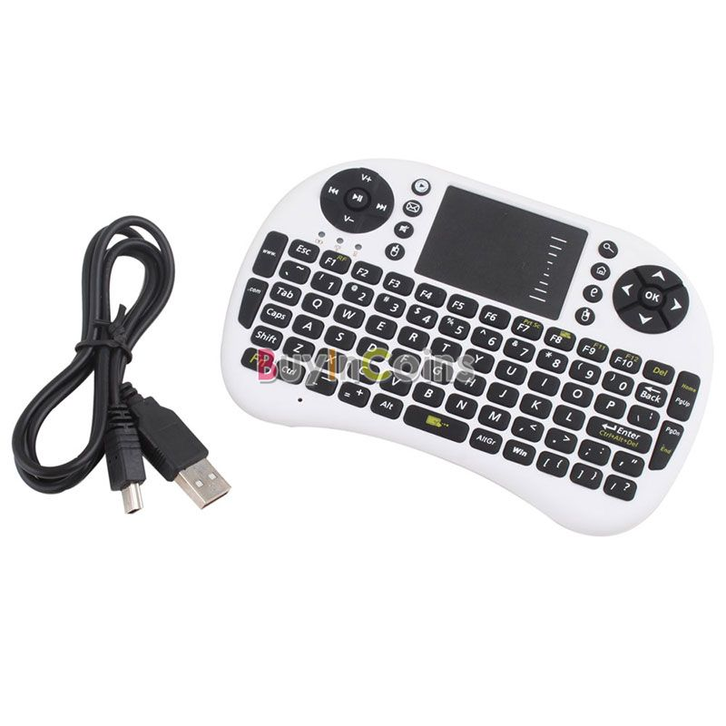 Portable Mini 2.4GHz 2.4G Wireless Keyboard Touchpad Mouse Combo New US AS #24090(China (Mainland))