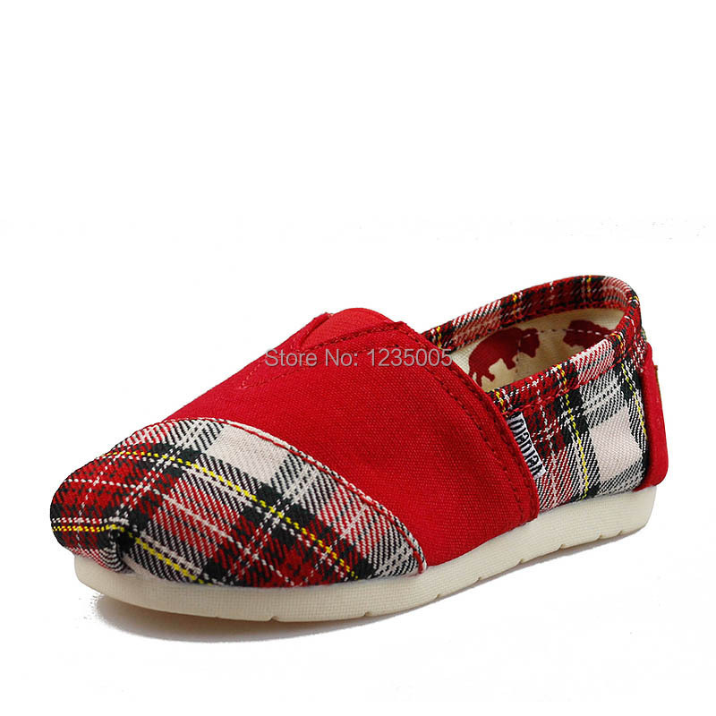 New spring kids canvas shoes girls boys flat shoes casual children