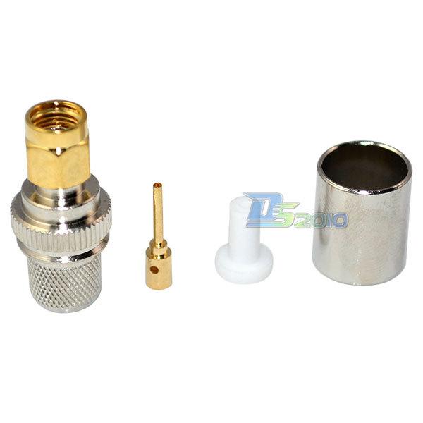 High QualityRP SMA Male Plug Crimp RG8 RG165 RG213 LMR400 cable RF coaxial connector adapter(China (Mainland))