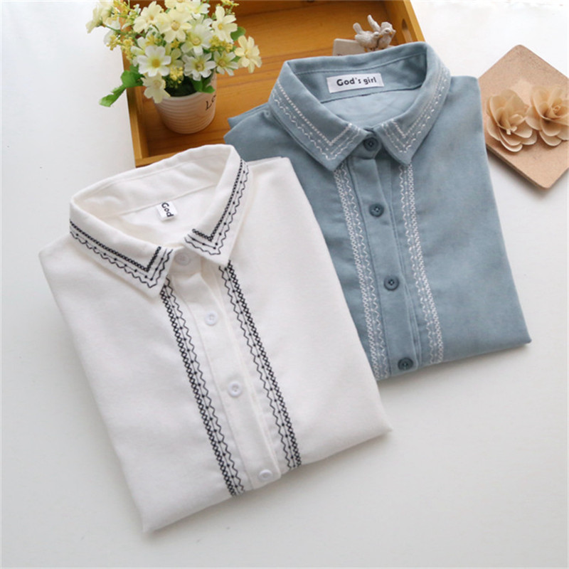 New 2016 Fashion Ladies Blouses Vintage Women Clothing Spring Ladies long sleeve Retro Embroidery Shirts Tops Blusas Feminine(China (Mainland))