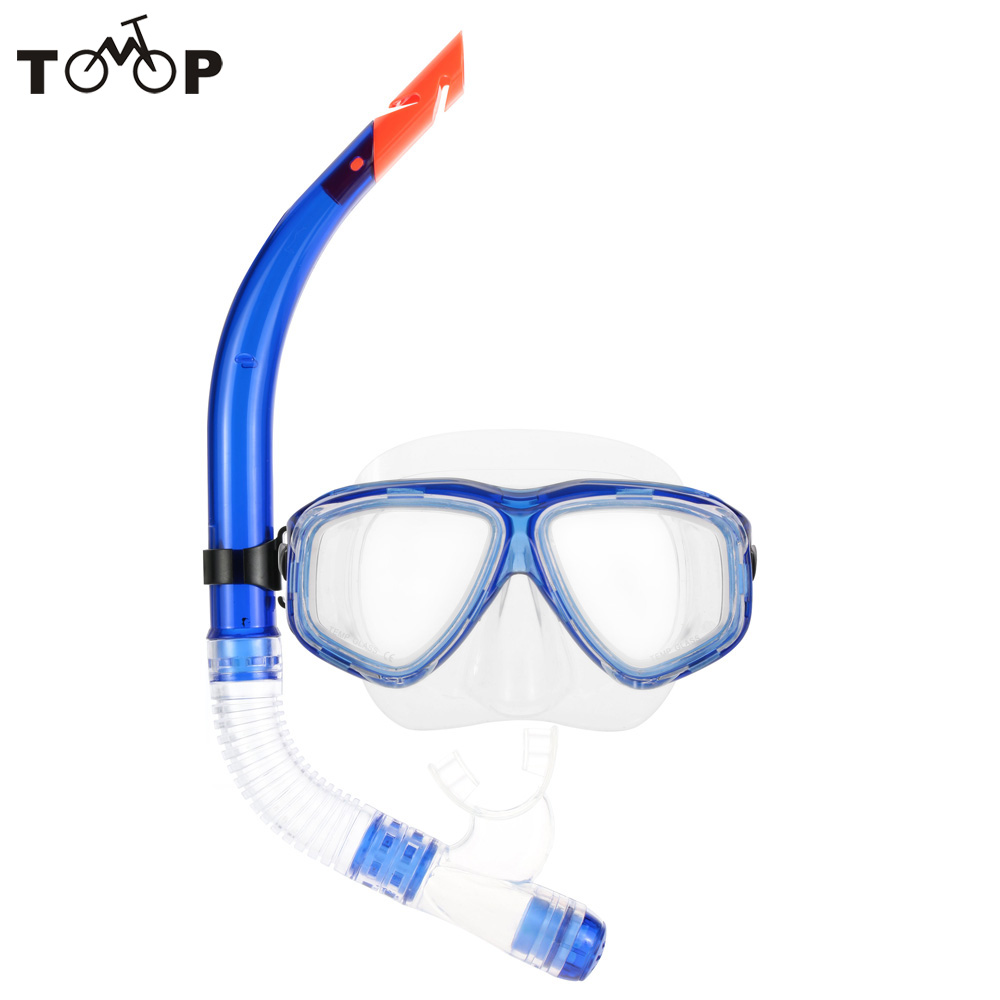 Swimming Gear Scuba Anti-Fog Goggles Mask Dive Underwater Diving Glasses Submersible With Half Dry Snorkel Tube Set High Quality(China (Mainland))