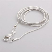 Free Shipping 925 stamped silver plated Single chain 2MM snake chain 24 inch Wholesale Fashion Jewelry