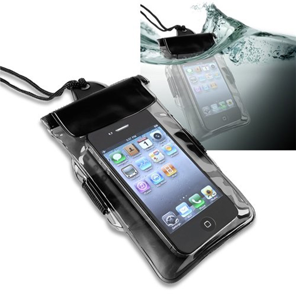 free shipping universal waterproof bag case for cell phone pda black in phone bags cases. Black Bedroom Furniture Sets. Home Design Ideas