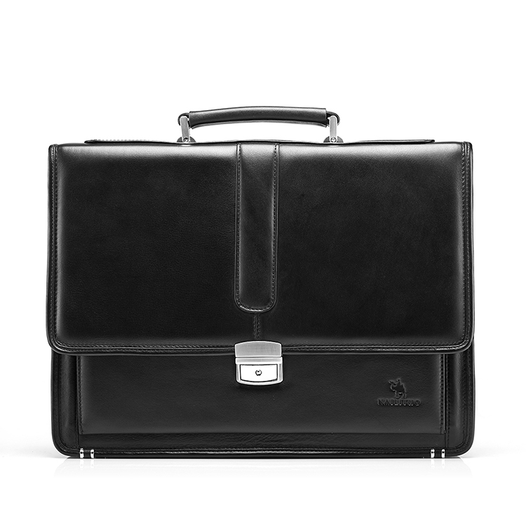 Free shipping men's genuine leather vintage formal business lawyer briefcase messenger shoulder attache portfolio tote T8880(China (Mainland))