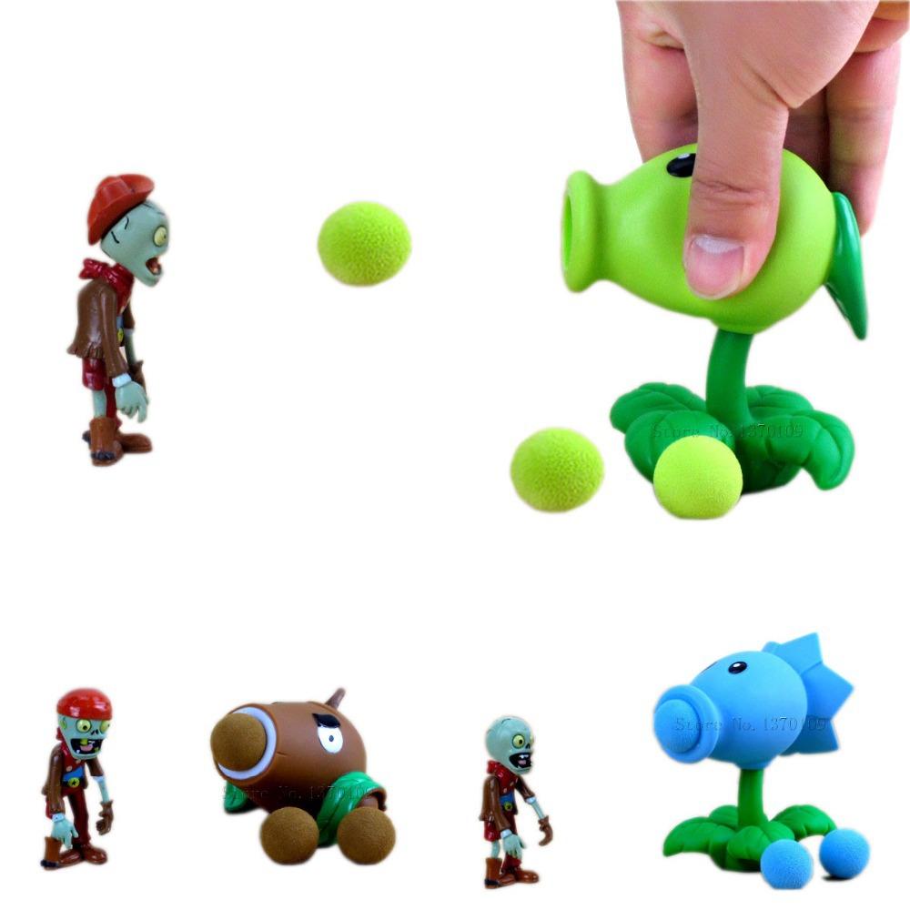 Горячей Популярные Игры PVZ Растения против Зомби Игрушечное Ружье ПВХ Фигурку модель Игрушки 12 Стиль 10