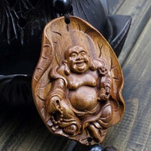 high quality Wood Carving & Buddha Beads Chinese Buddhism Shakyamuni Statue Sculpture Amulet Car Pendant Netsuke #45(China (Mainland))