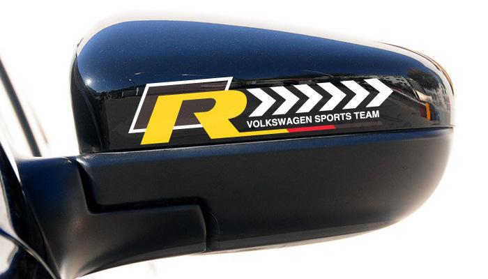 Car Decoration Sports Team Rearview Mirror Waterproof Sticker Reflective Car Stickers And Decals For Volkswagen Skoda Golf Jetta(China (Mainland))