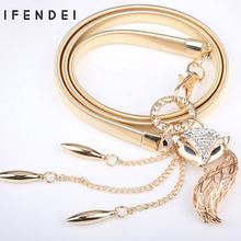 Buy IFENDEI Women's Belts Hot Fox Gold Belt Chain Elastic Stretch Metal Strap Silver Adjustable Luxury Chain Ceinture Waist Dress for $7.58 in AliExpress store